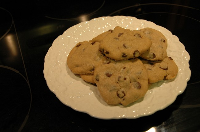 Warm cookies. Who can resist?