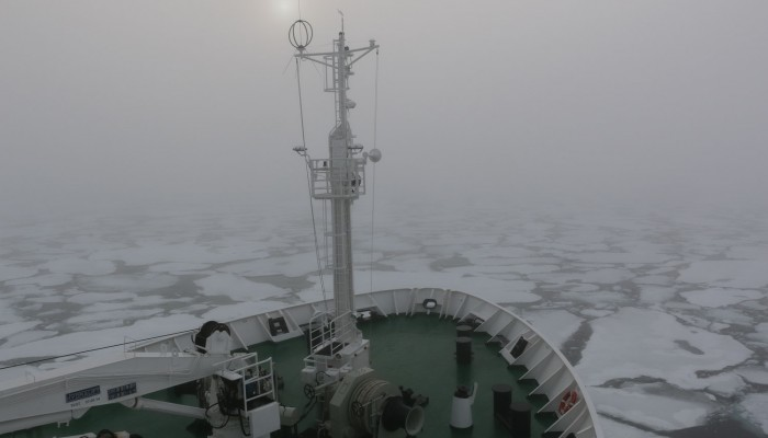 Fog and ice in Lancaster Sound