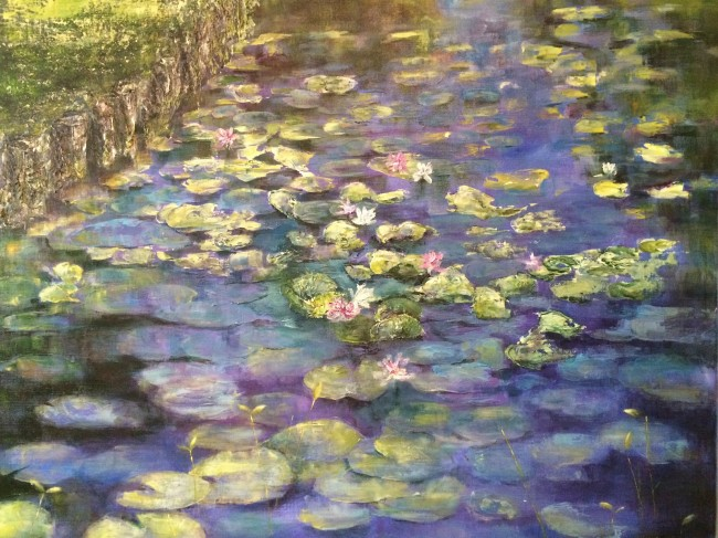 Lily Pads © Nadia Lassman, Acrylic on Canvas 24 x 30""