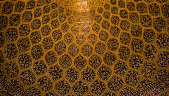 The dome of the Lotfollah mosque in Isfahan