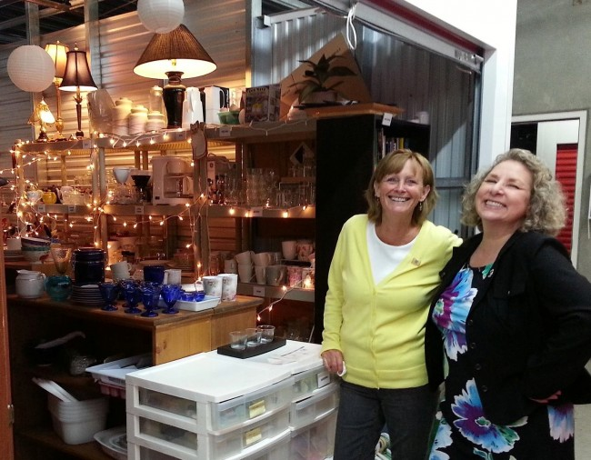 Beth and Patty - Volunteers make Anney's Closet possible