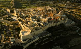 Aerial view of Mdina