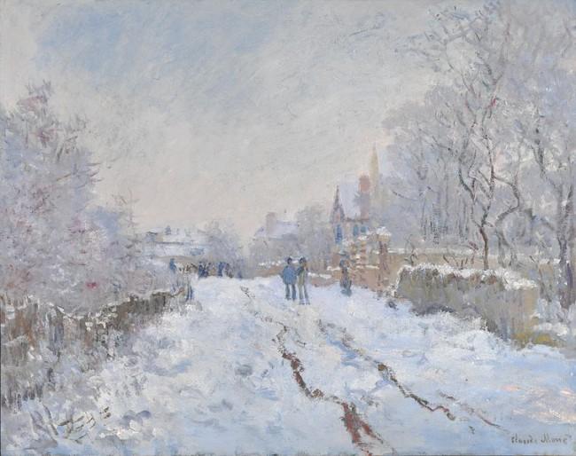 Claude Monet Snow Scene at Argenteuil / Rue sous la neige, Argenteuil