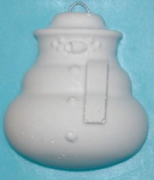 Concrete Snow Man Ornament