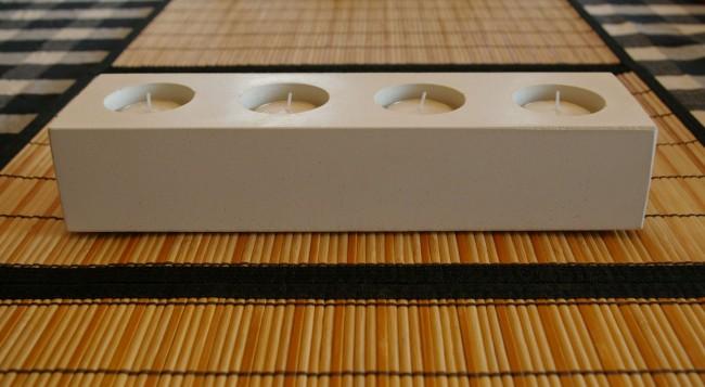 4-candle concrete tea light holder