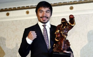 Filipino boxer and Congressman Manny Pacquiao