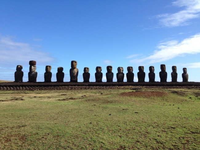 Moai Statues in Easter Island
