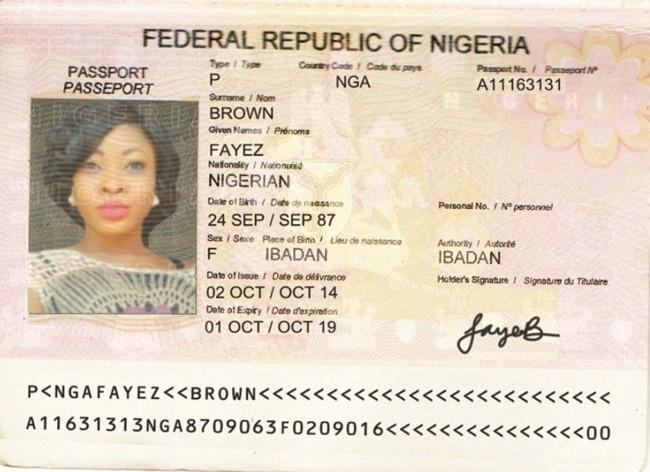 The second passport Fayez sent me