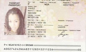 The first passport Fayez sent me