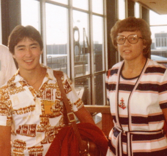 Joel and his mother - 1981