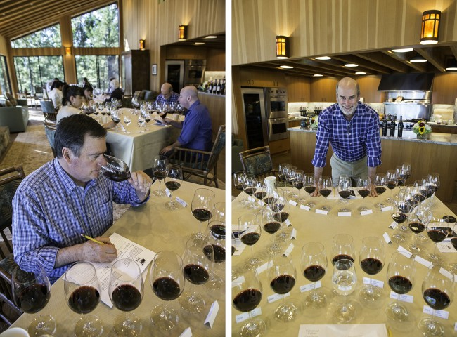 Dennis Cakebread (left) and Bruce Cakebread (right) at their 2015 vertical tasting of their 2002-2012 Dancing Bear Ranch Cabernet Sauvignons.