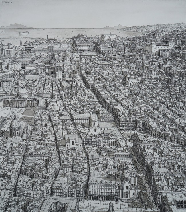 Spaccanapoli, the old heart of Naples -  30x40cm, 2014 @ Stefan Bleekrode