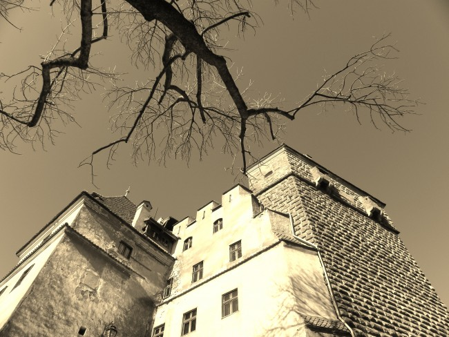 Bran Castle, often associated with Dracula.