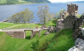 View on Loch Ness from Urquhart castle
