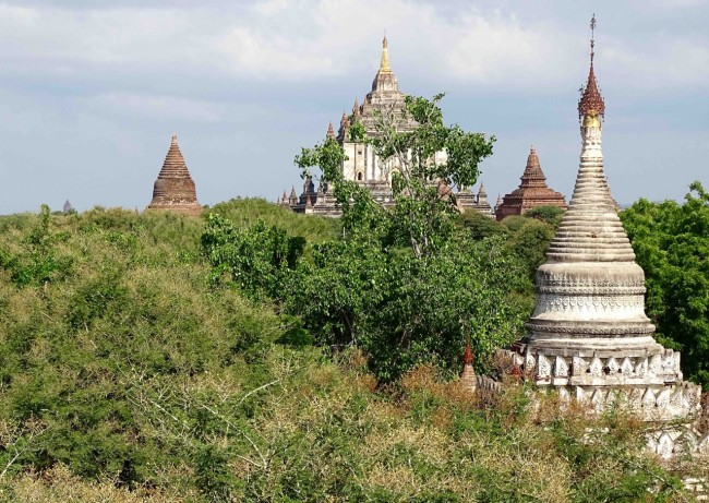 A profusion of temples and stupas pepper the landscape