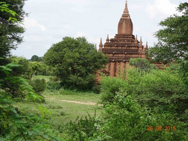 A temple with an unusuall stupa on top