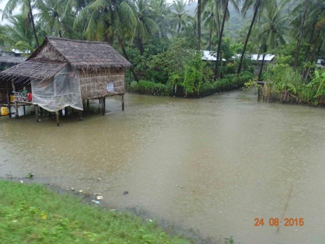House in Myanmar built over water