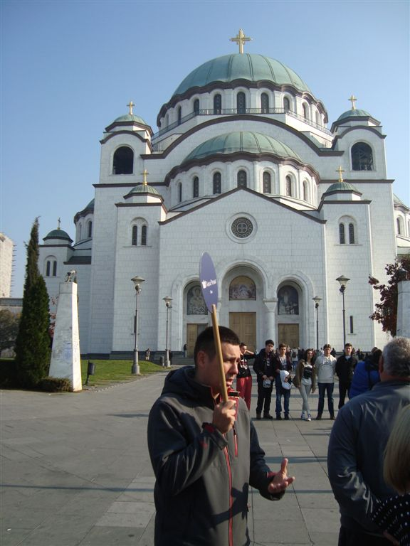 Guide at St. Sava Orthodox Church