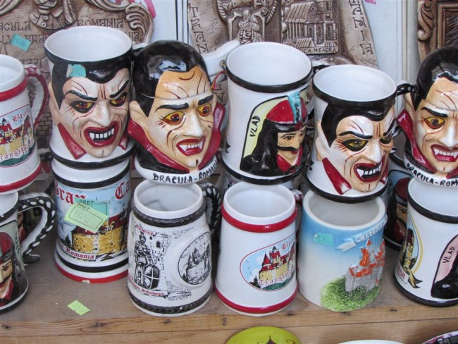 Mugs for sale at Dracula's Castle