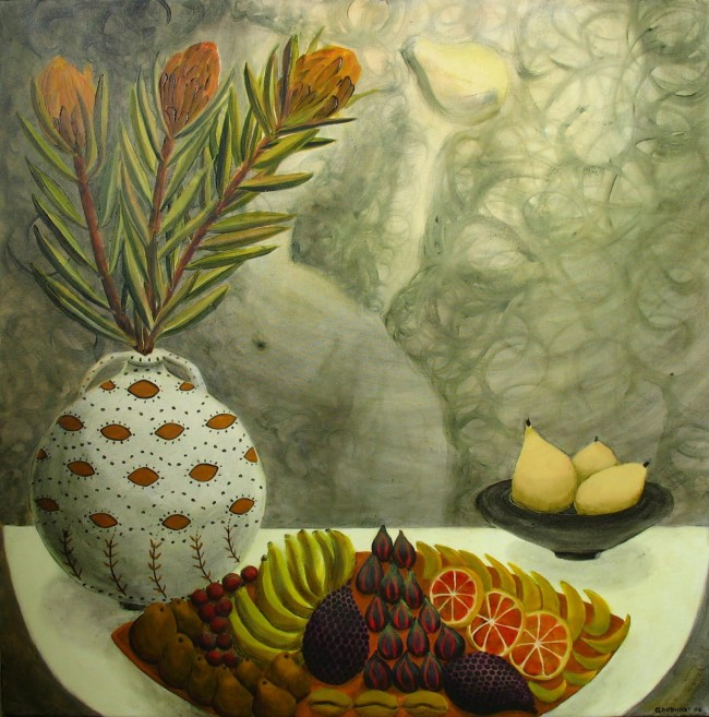 Fruit and Flowers In Moonlight @ Laurie Goodhart
