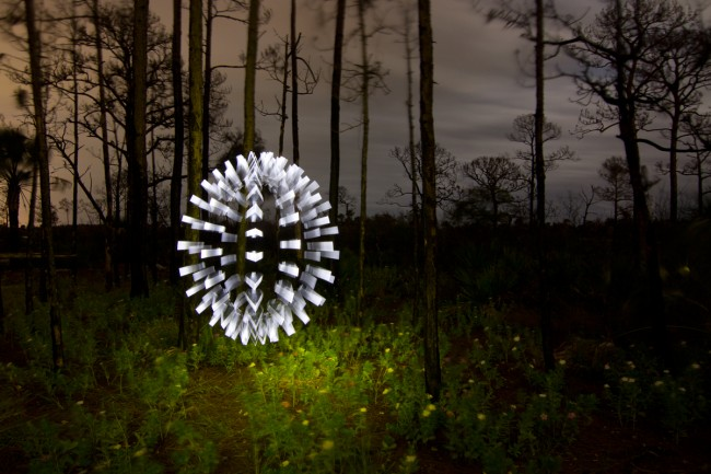 Light Painting - Spiked Orb @ Jason D. Page