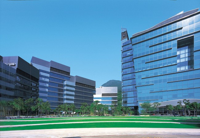 Hong Kong Cyberport 1 and Cyberport 2 buildings