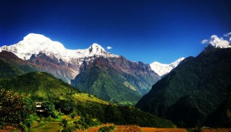 Daily view from our partnered school in Ghandruk, Nepal.