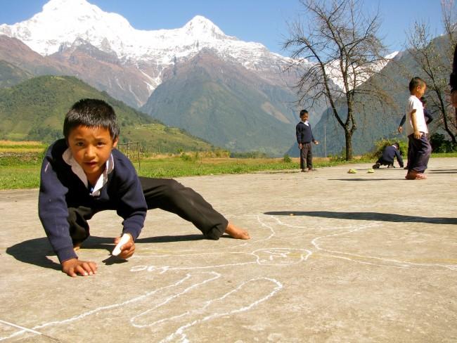 Trek to Teach - Chalk Artist