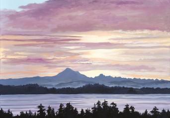 Daybreak over Mount Baker.
