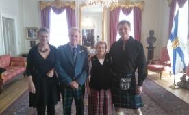His Honour, Brigadier General J.J. Grant, Lt. Governor of Nova Scotia, left centre with his wife, right center. Author far right.