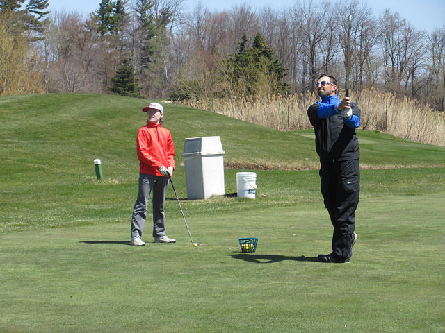 Junior Golf Lesson at Bradlee Ryall Golf © Rob Campbell