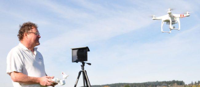 Bob and the DJI Phantom 3 Aerial Quad copter drone