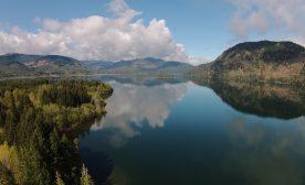 Drone shot of Mesachie Lake