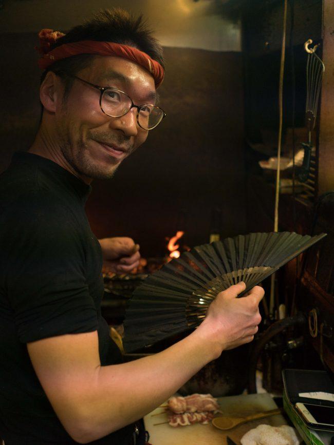 Chef at Yakiton Hiro-Chan © Jon Kroll