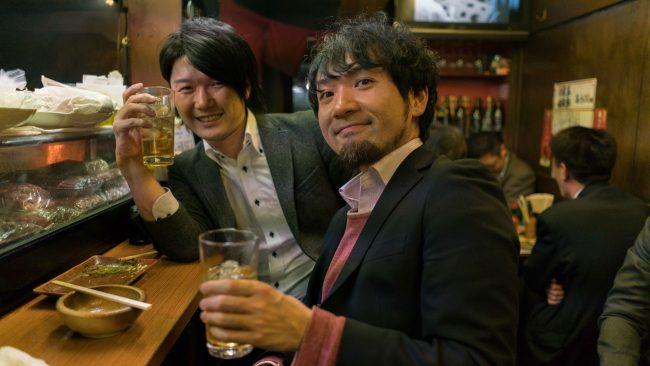 Salarymen at Yakitori Hiro-Chan  © Jon Kroll