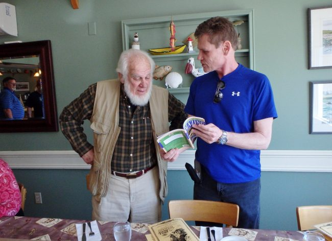 Author with Bell's great grandson