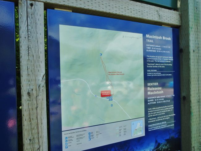 MacIntosh Creek trail map