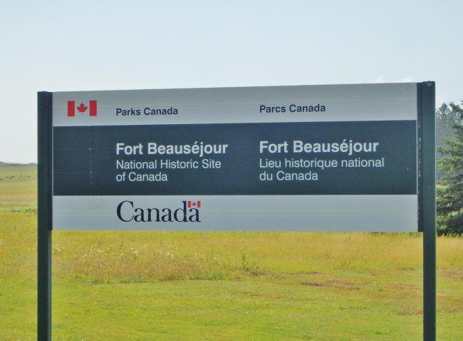 Parks Canada signs for Fort Beausejour