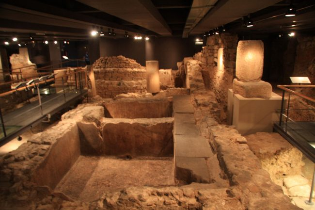 A salted fish and garum factory in Barcelona's subterranean Roman ruins