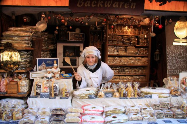 Distinctly local Christmas pastries at Leipzig's Children's Christmas Market, one of several Christmas markets the city hosts.