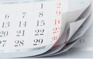 Old fashioned calendar