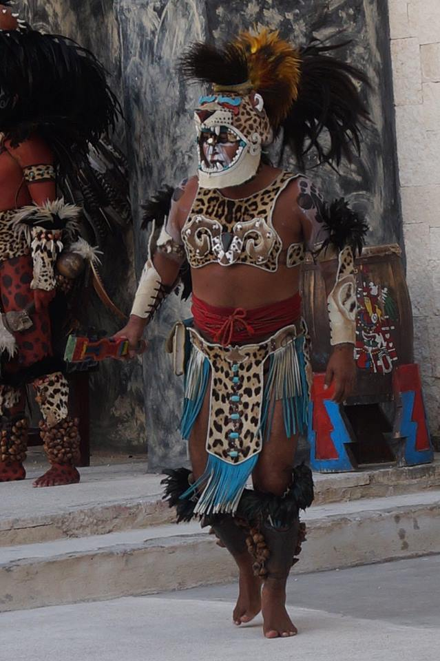Mayan garb adorned by local.