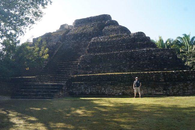 Mayan pyramid.