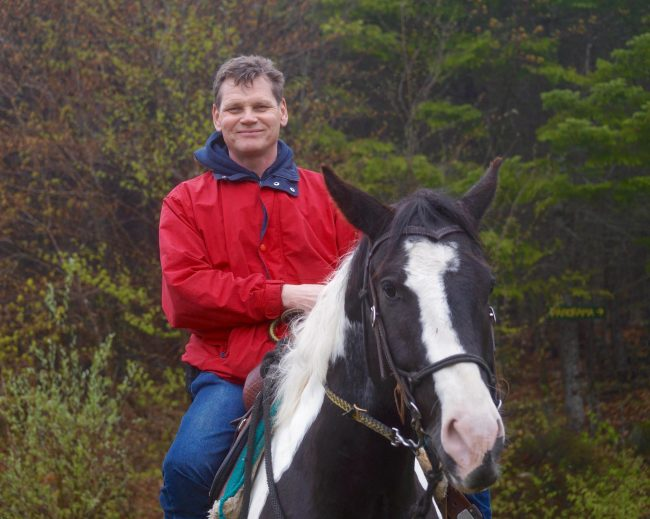 The author, George, on horseback!