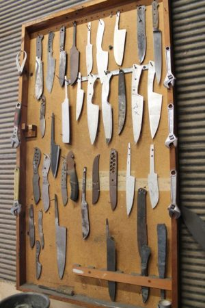 Some of Barry's knives