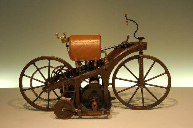 A Reitwagen replica at the Mercedes-Benz Museum