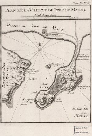 Plan de la Ville et du Port de Macao