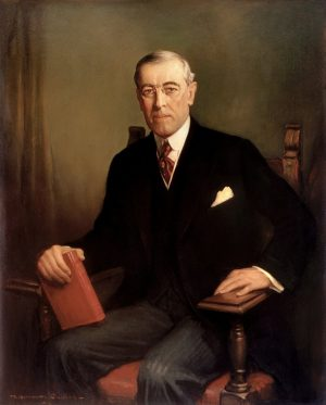 Official Presidential portrait of Woodrow Wilson