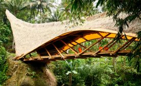 Bamboo bridge at Green School Bali