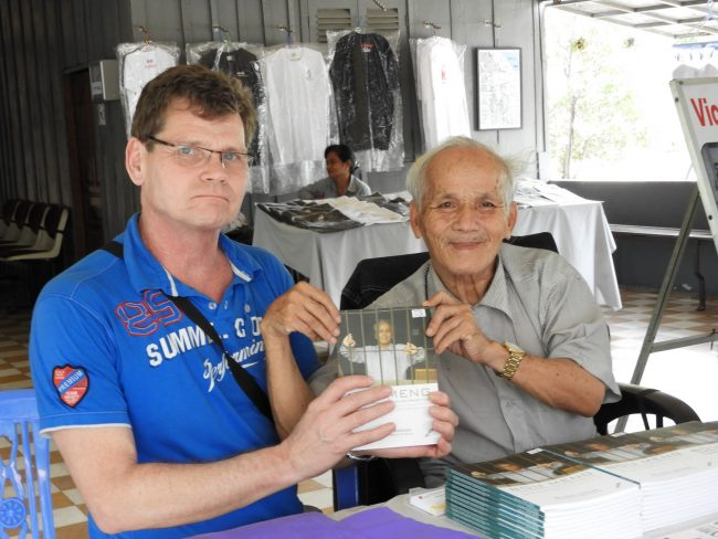 George Burden with Former Khmer Rouge Prisoner, Bou Meng
